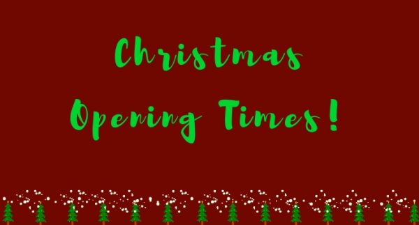 Christmas Opening Times - website image