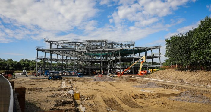 Construction update #3 - steels are up at new The Schrodinger Building at The Oxford Science Park