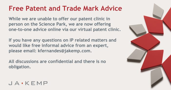 J A Kemp Patent Clinic for TV Screen 2020